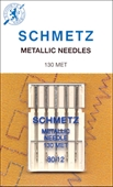 Brodernål metallic 80 , 5 pack